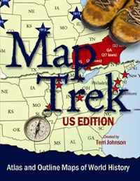 Map trek outline maps of united states history cdrom publicscrutiny Images